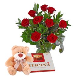 Czerwone róże z...
