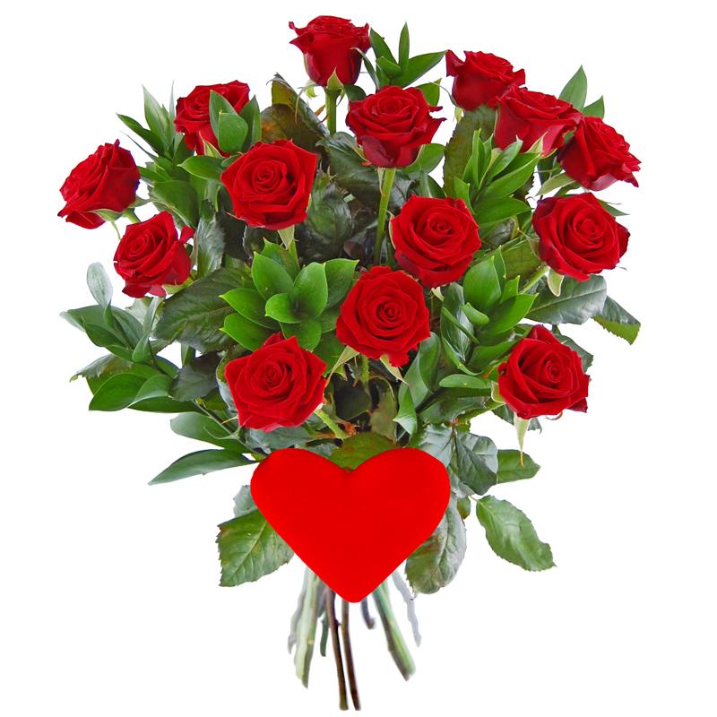 Bukiet róż z sercem Kwiaty